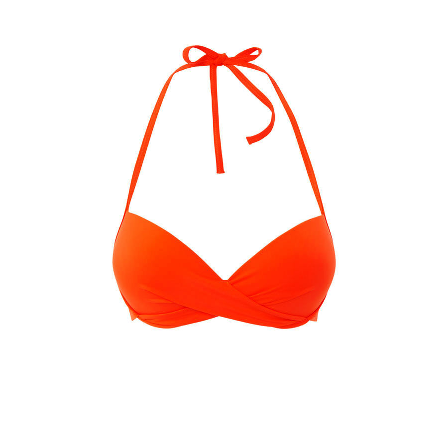 Haut de maillot de bain orange Twistiz;${refinementColor}