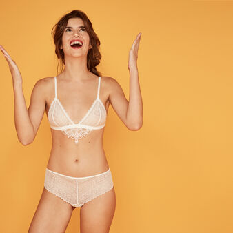 Tattooiz beige triangle bra white.