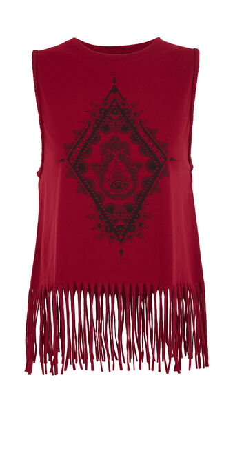 Chakriz burgundy top red.