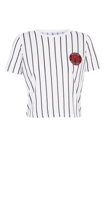 Top blanc baseballiz white.