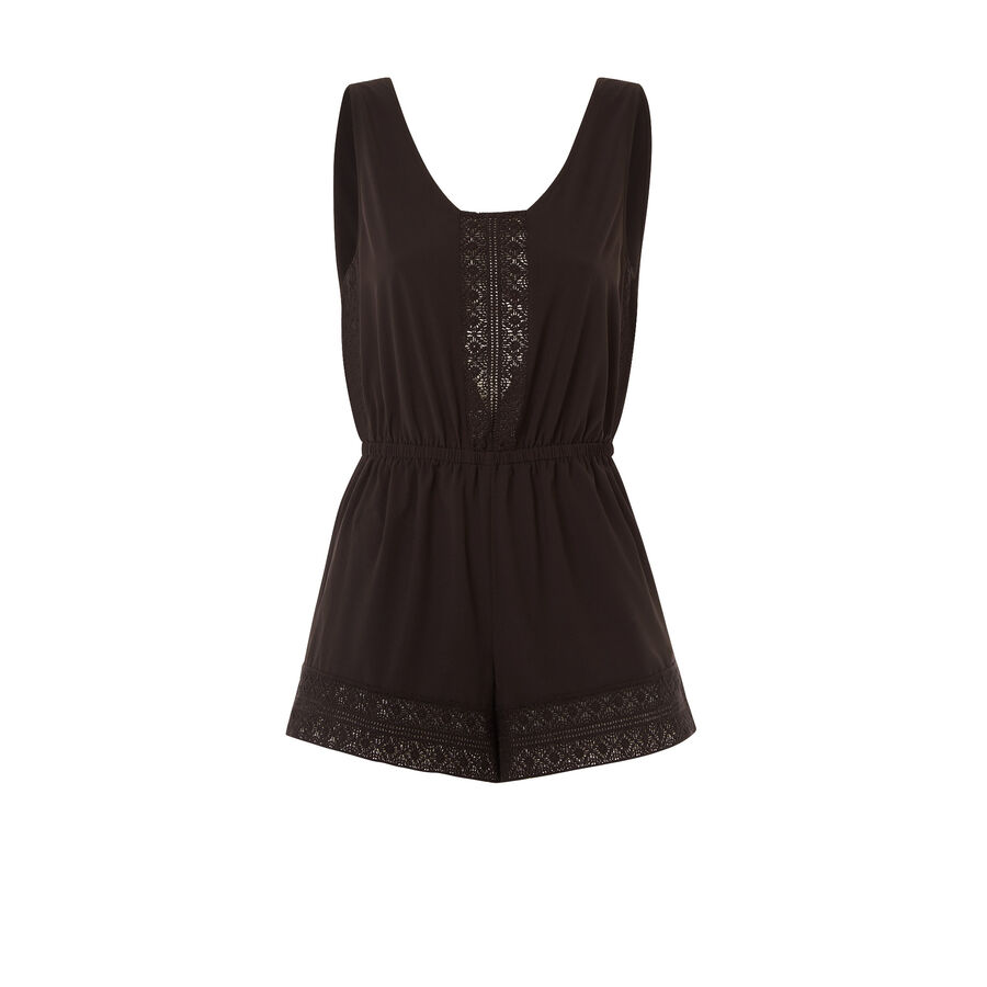 Luminiz black playsuit;${refinementColor}