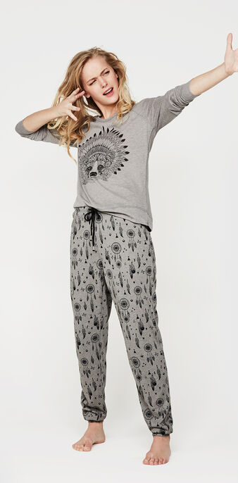 Ensemble de pyjama gris ratoniz  grey.