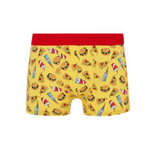 Junkfoodiz yellow boxer shorts yellow.