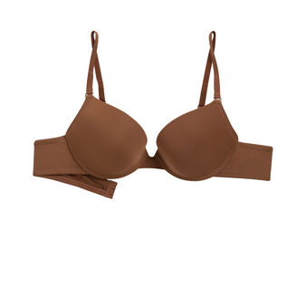Soutien gorge micro gel bra marron brown.