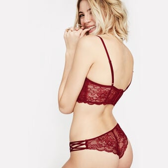 Flirtiz burgundy tanga red.