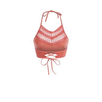 Haut de maillot de bain rouge brique picoliniz pink.
