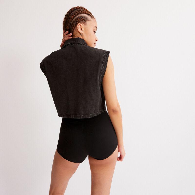 short taille élastique - noir;