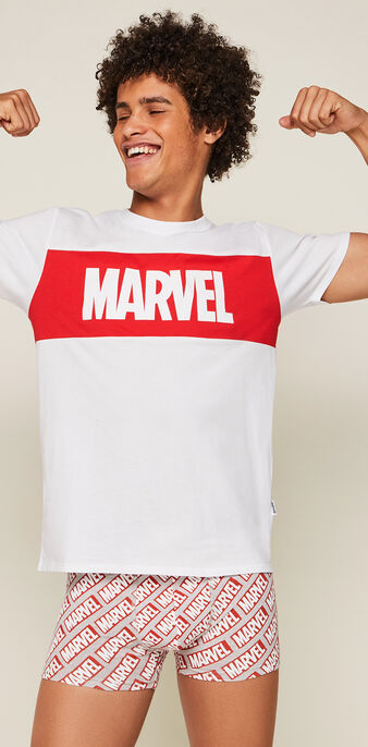 Tee-shirt print marvel skatwiz blanc.