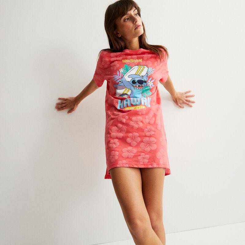 tunique à motifs tropicaux Stitch - corail;