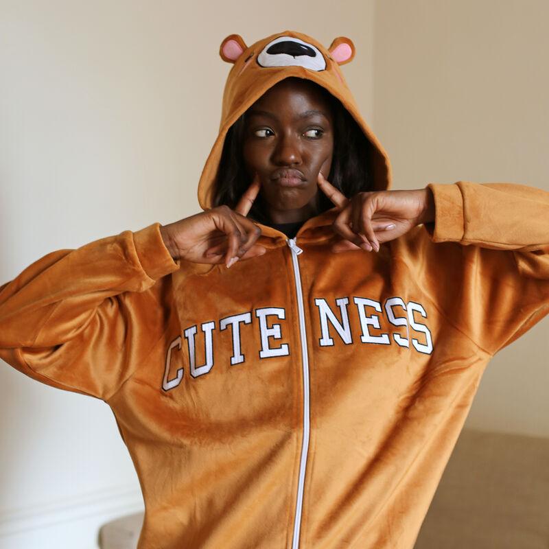 polaire ourson à message cuteness - marron;