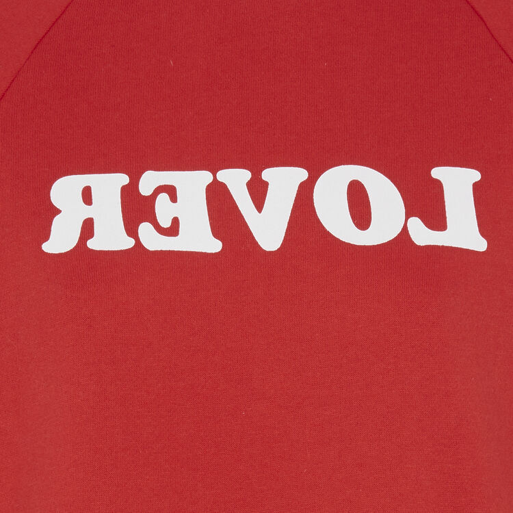 Sweat rouge realoveriz red.