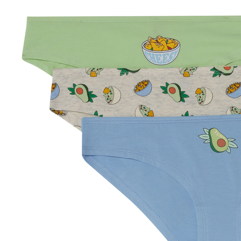 lot de 3 culottes avocado lover - écru;