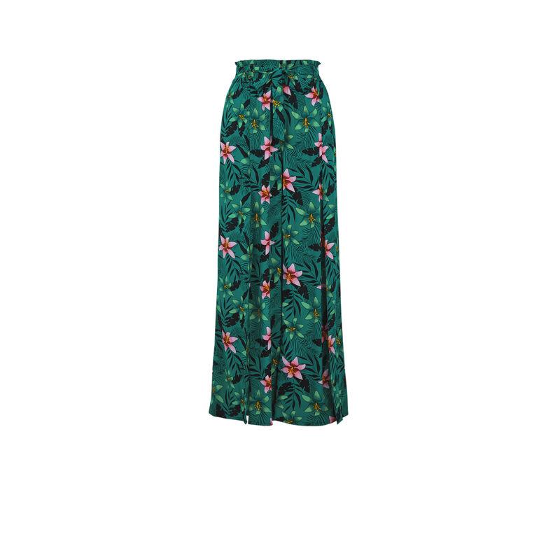 Pantalon fluide et large - vert;