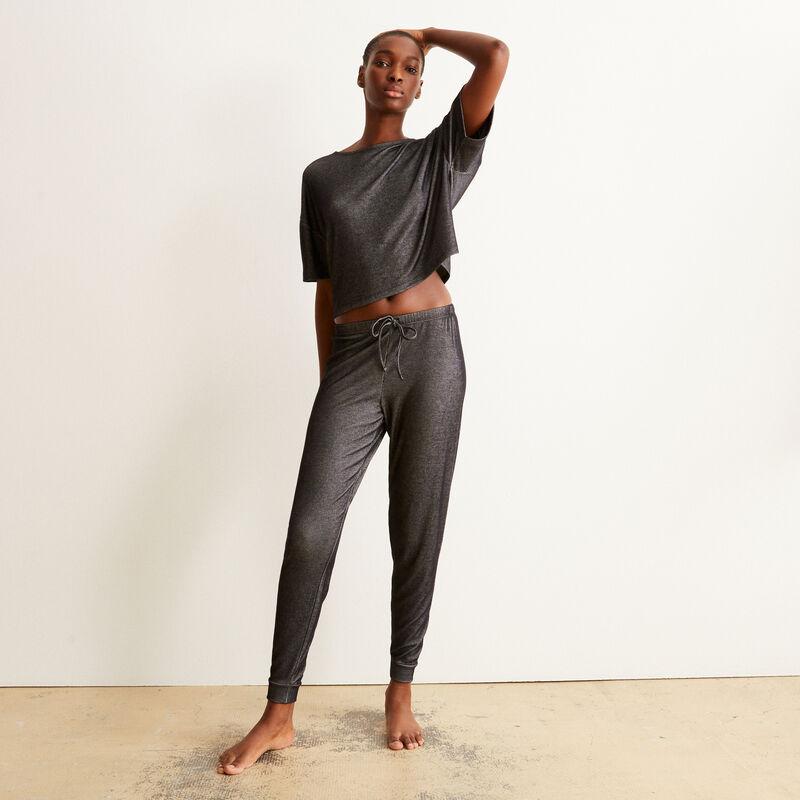 pantalon côtelé  - noir;