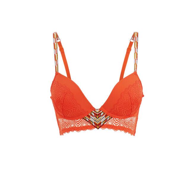 Soutien-gorge bustier push orange matchiz;