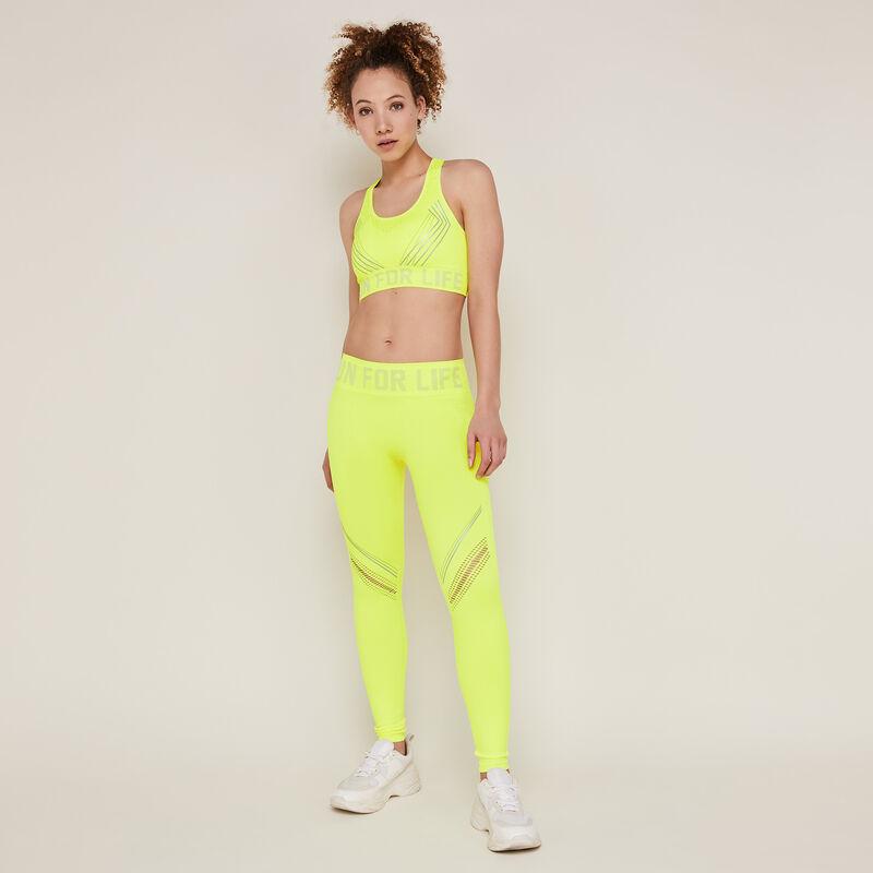 Legging de sport uni - jaune fluo;