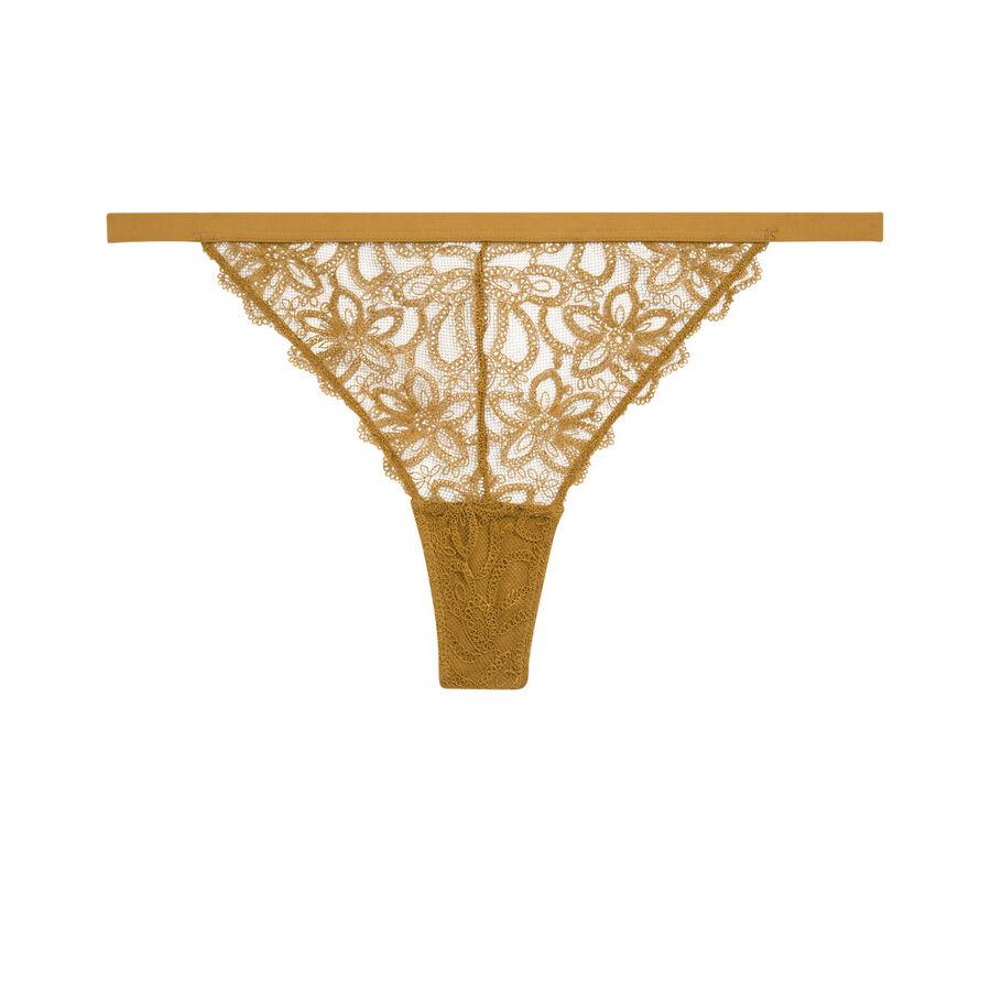 Centuriz golden yellow thong;${refinementColor}