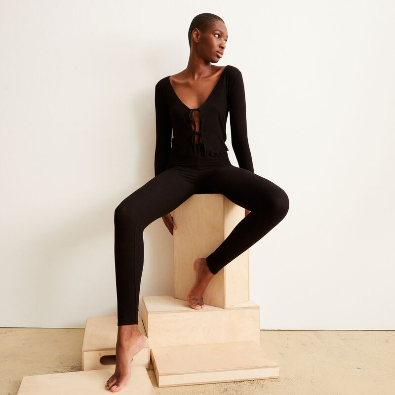 legging uni - noir;