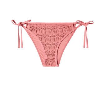 Bas de maillot de bain vieux rose ajouriz pink.