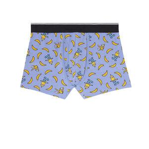 boxer Les Minions et bananes - bleu