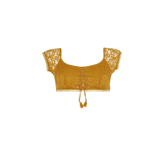 Soutien-gorge bandeau couleur ocre dorothiz;