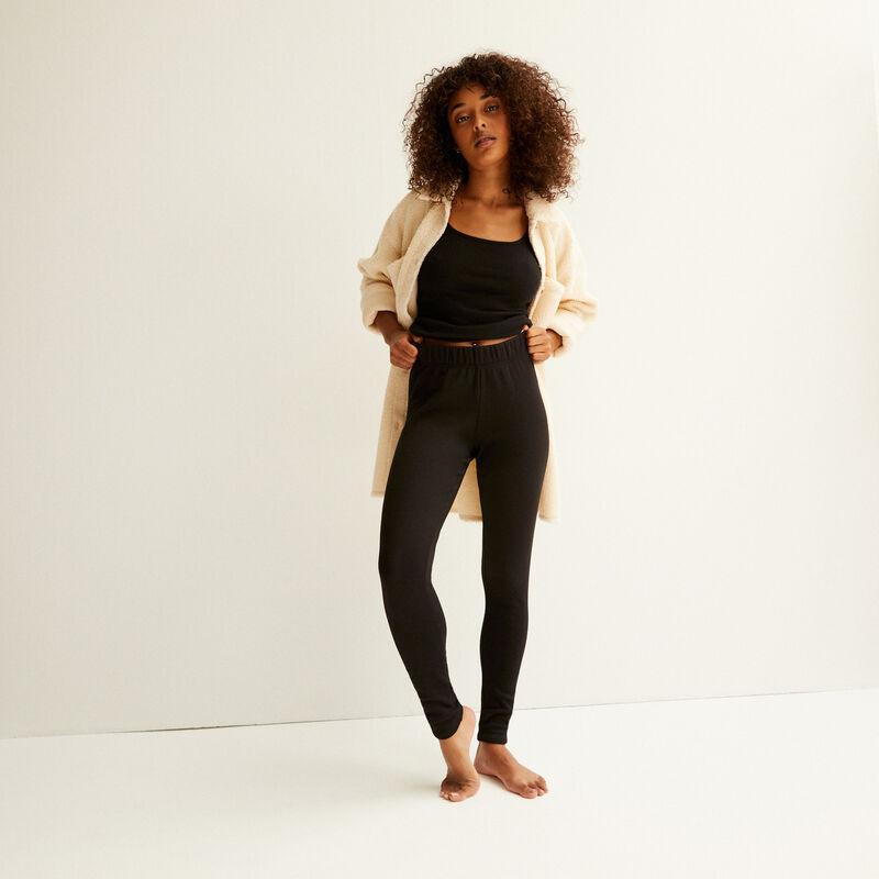 legging fourré - noir;