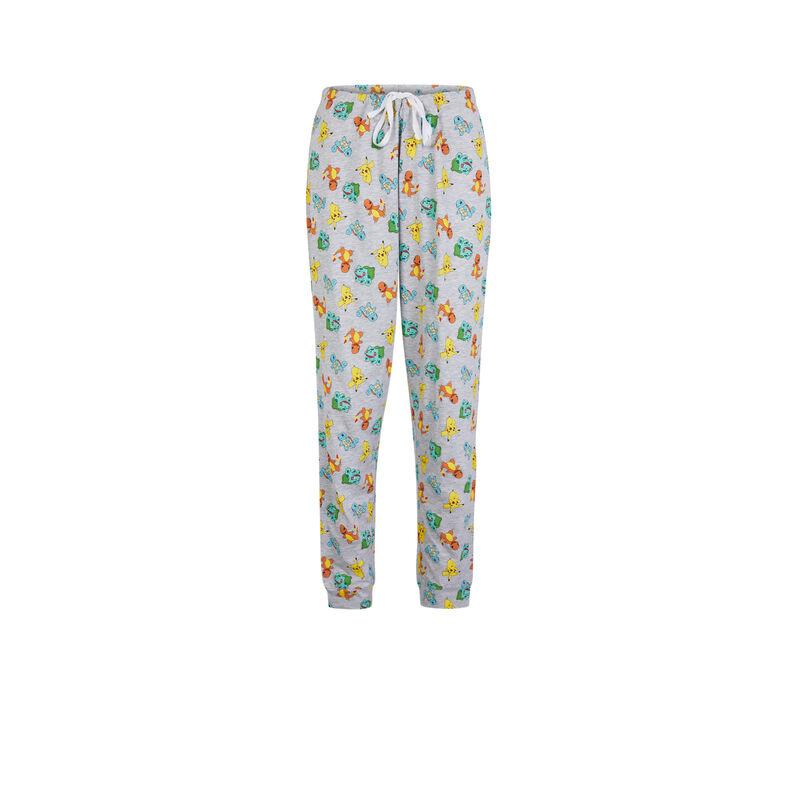 Pantalon imprimé Pokemon - gris;