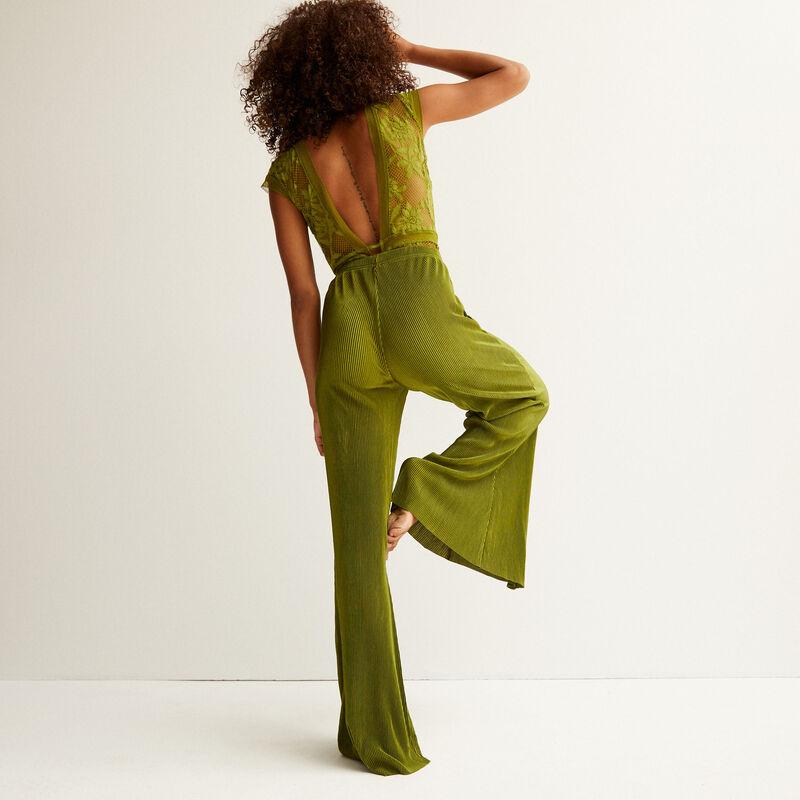 pantalon en satin - kaki;