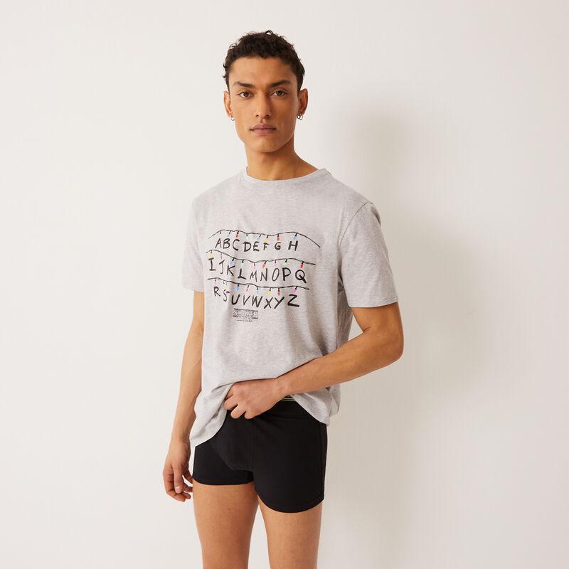 tee-shirt Stranger Things - gris;