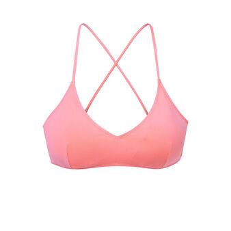 Malawiz pink bikini top pink.