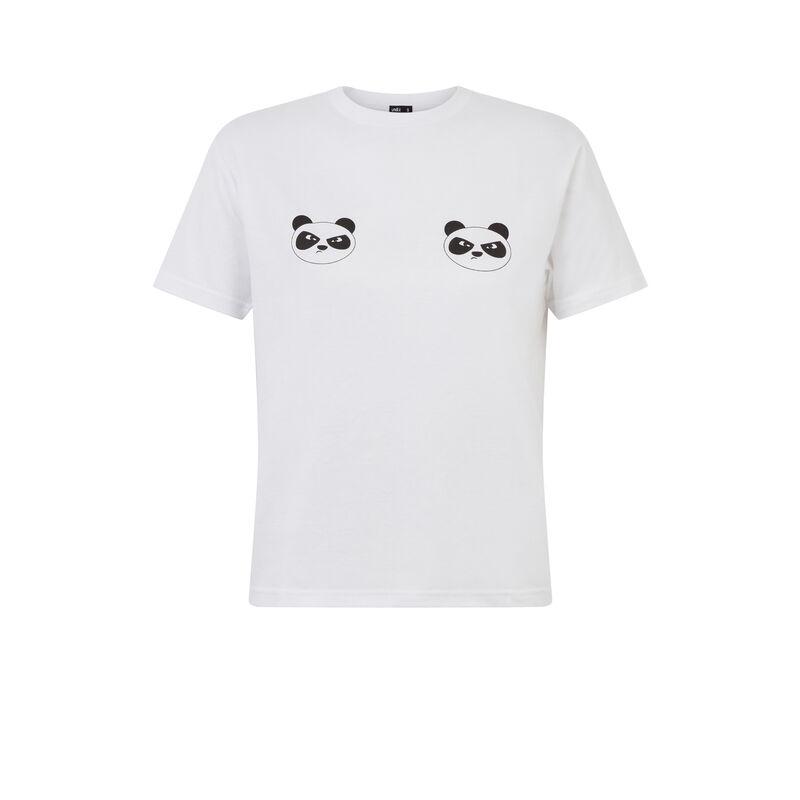tee shirt à motifs panda - blanc;