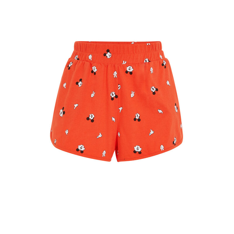 Short imprimé Mickey - orange ;