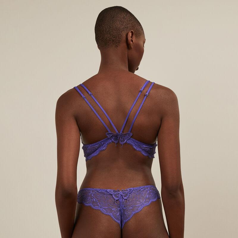 soutien-gorge ampli en dentelle - violet ;