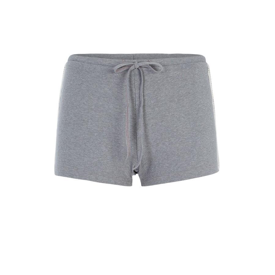 Short gris ribvitamiz;