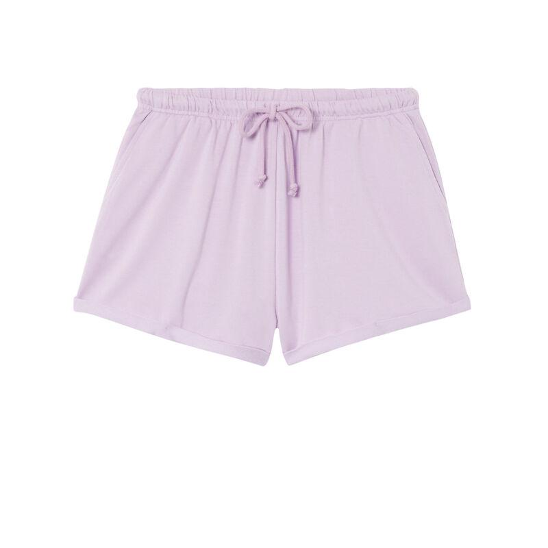short uni à détail cordon - lilas;