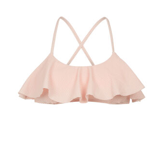 Haut de maillot de bain rose clair stripiz pink.