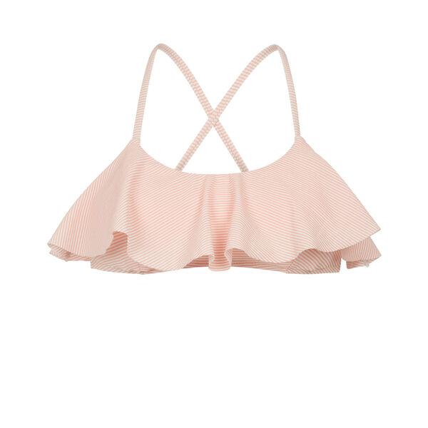 Haut de maillot de bain rose clair stripiz;${refinementColor}