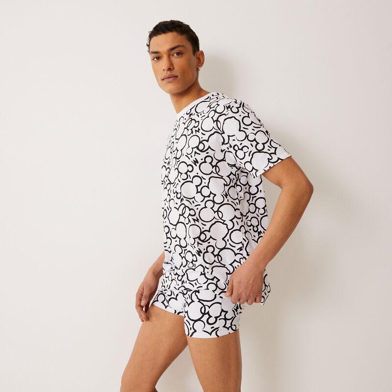 tee-shirt à motifs Mickey - blanc;
