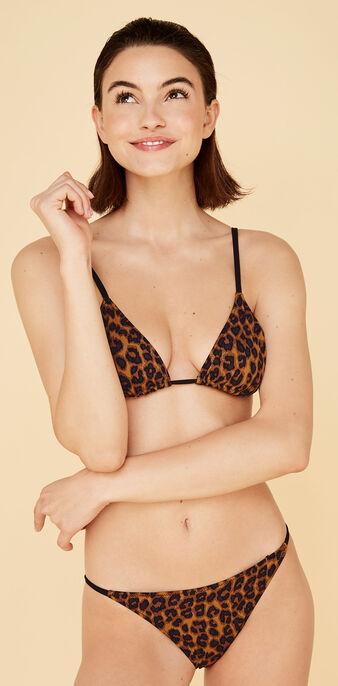 Haut de maillot de bain triangle marron pantheriz коричневый.