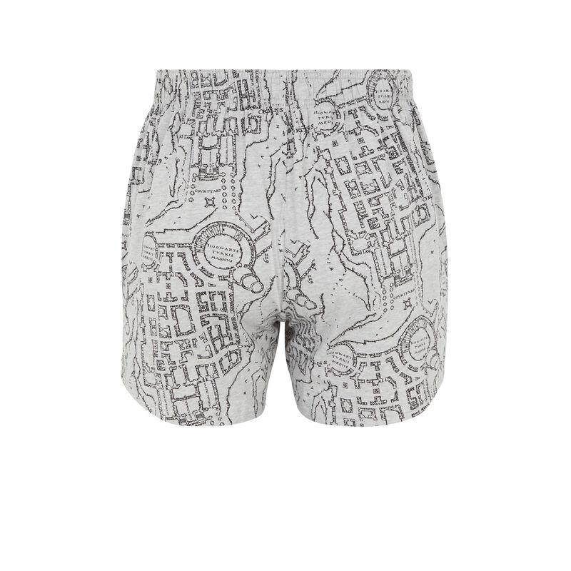 boxer print Harry Potter - gris;