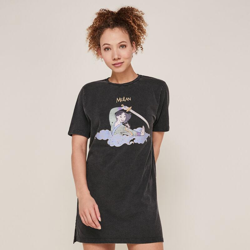 Tunique manches courtes Mulan - noir;