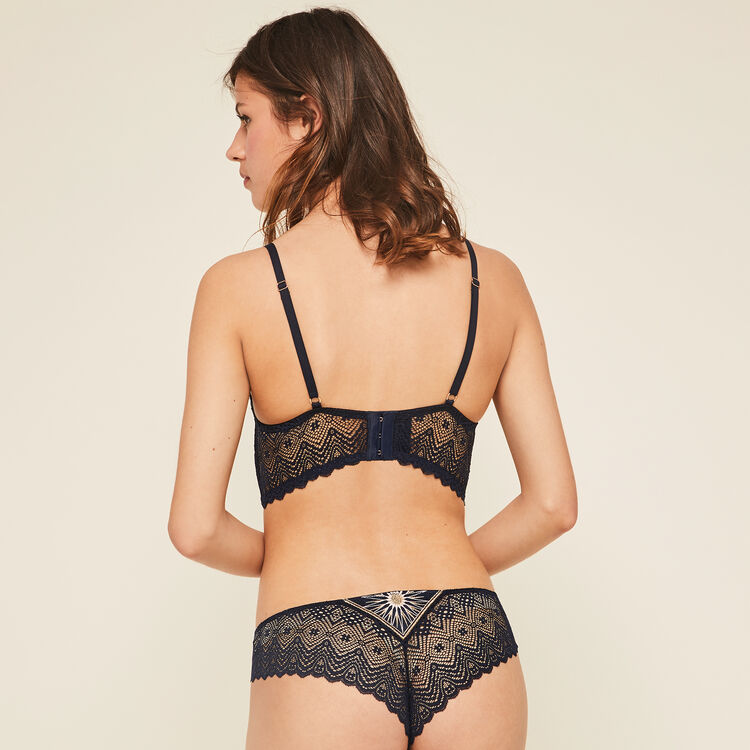 Slip bleu nuit horoscopiz blue.