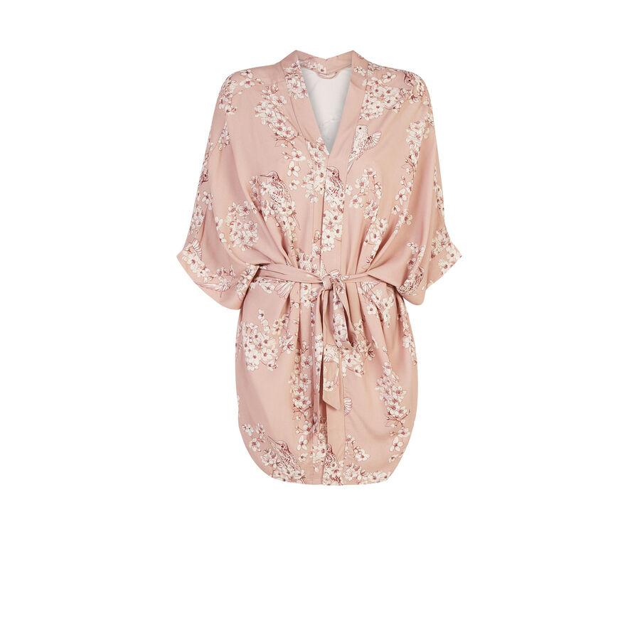 Oblissiz light pink kimono;${refinementColor}