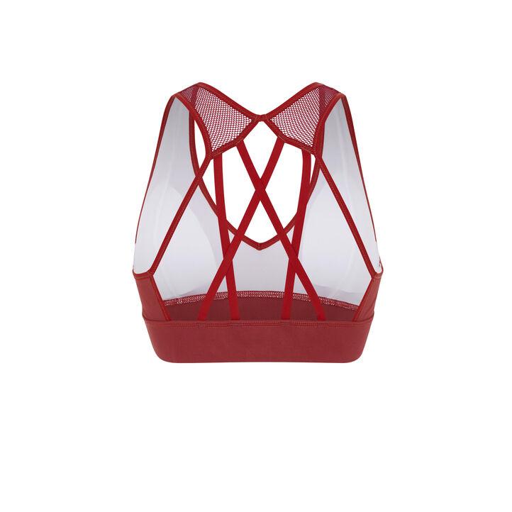 Brassière couleur brique macrasportiz red.