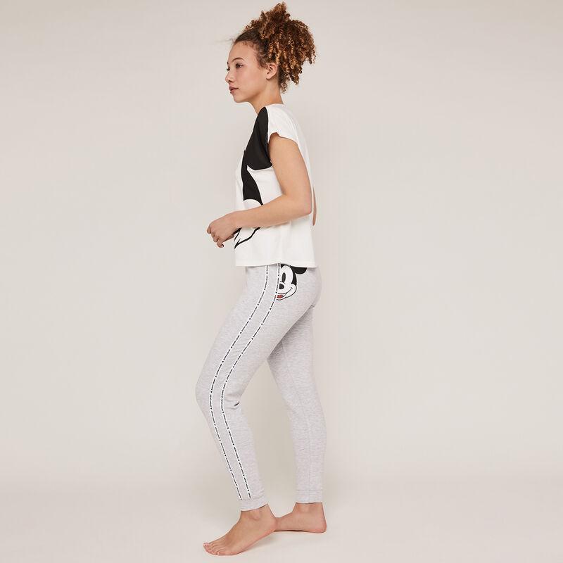 Pantalon imprimé mickey - gris ;