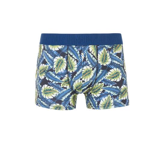 Boxer bleu marine feuilliz;