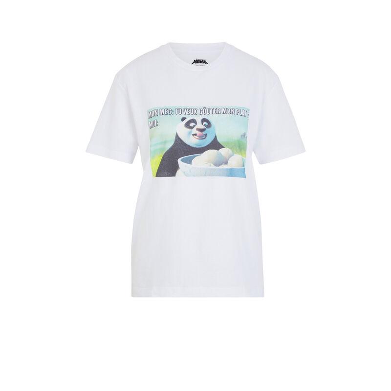 Top à manches courtes Kung Fu Panda - blanc;