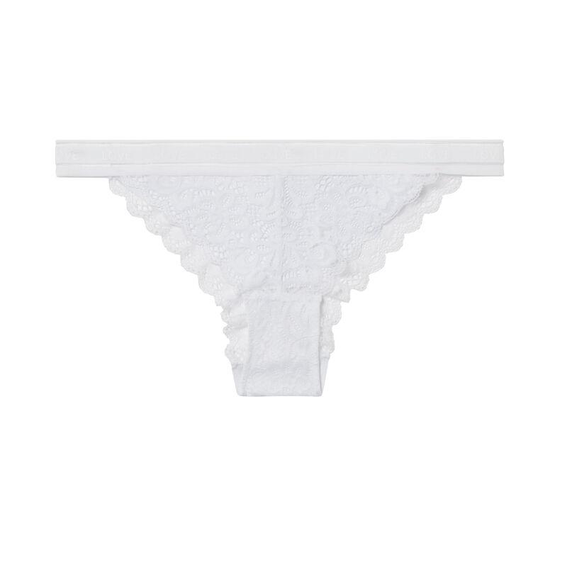 culotte en dentelle - blanc;