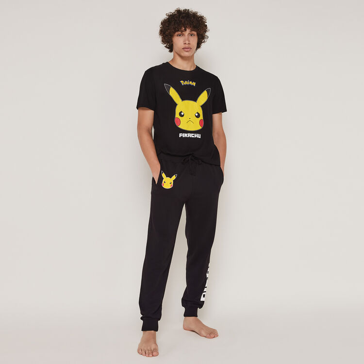 Top à manches courtes print Pikachu pickabatiz;