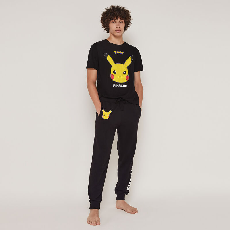 Top à manches courtes print Pikachu pickabatiz;